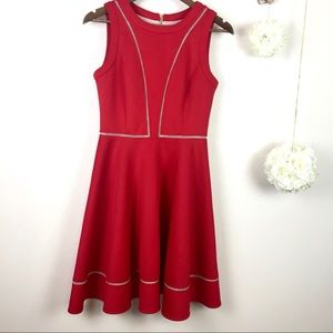Vince Camuto Fit & Flare Red Dress sz 6